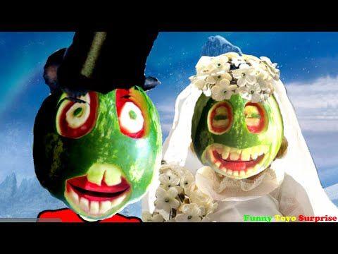 Wedding Watermelon Family Ice Cream Kids Stop Motion 歌曲 Video Funny Toyo…