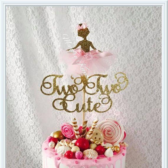 Ballet Cake Topper - Ballerina Cake Topper - Ballet Party Decorations - Ballet Party Decor - Ballet Birthday Party - Ballerina Birthday Cake