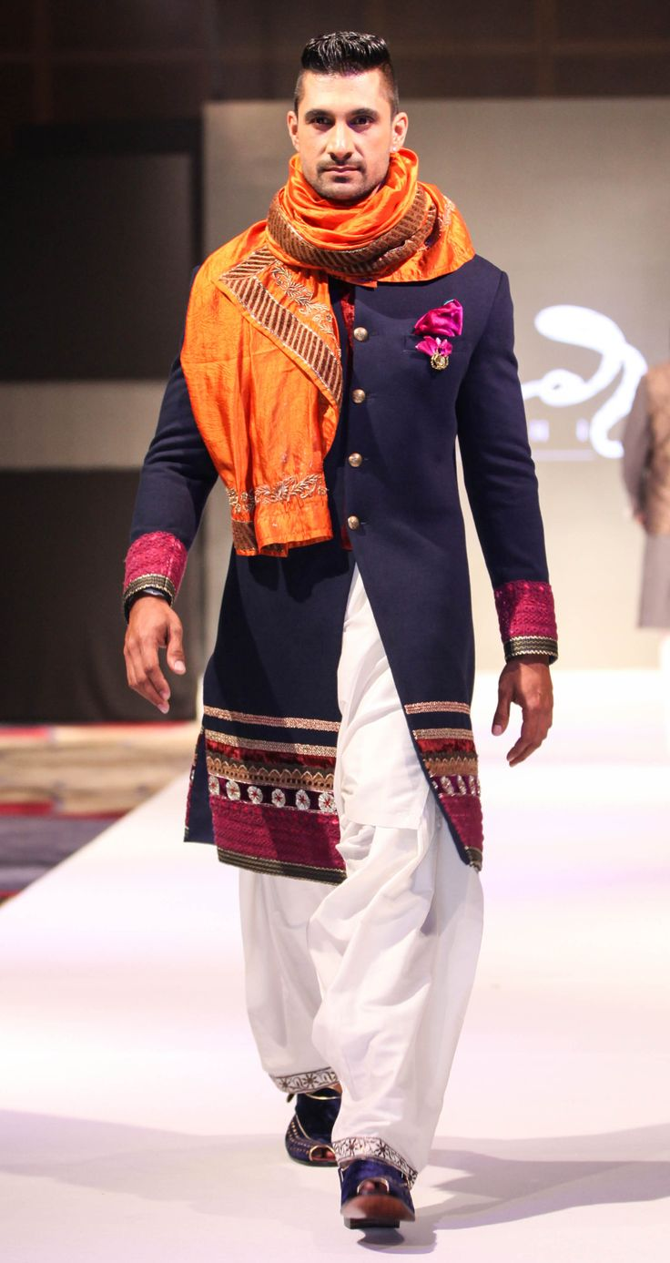 Groom kurta suits black wedding kurta designs asifa and nabeel men - Why Don T Indian Designers Learn The Art Of Subtle Let Only One Element Speak Either Embroidery Or Pocket Square Or Scarf Why