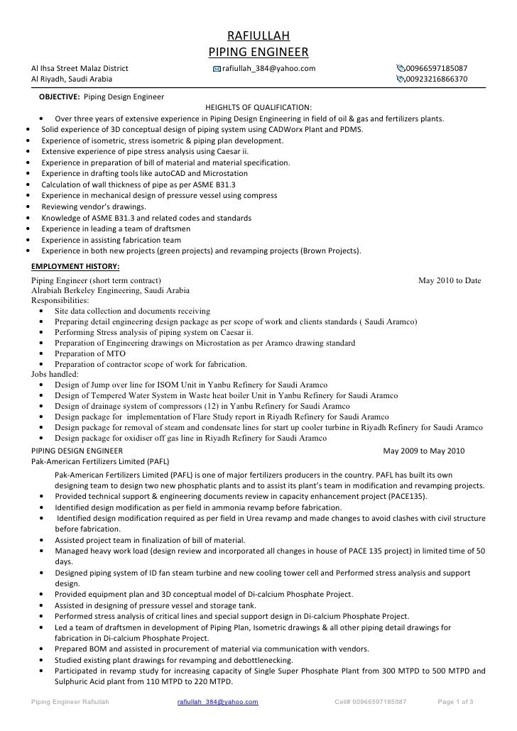 Best 25+ Good objective for resume ideas on Pinterest Career - piping field engineer sample resume