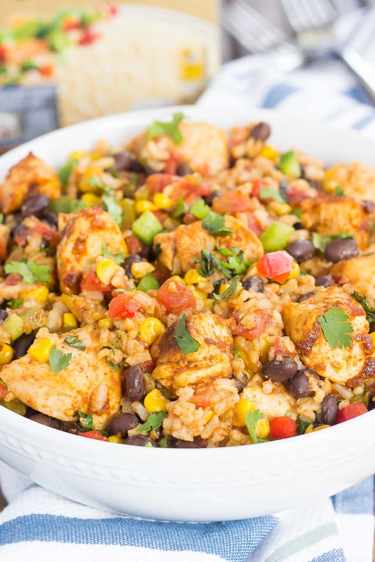 These Southwest Chicken and Rice bowls are packed with flavor and perfect for…