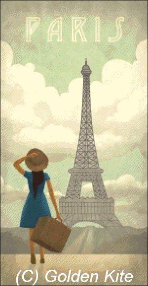 Francia Torre Eiffel Poster - Los colores sólidos