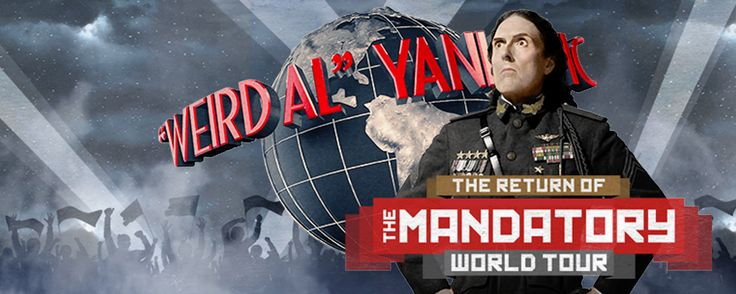 """""""Weird Al"""" Yankovic: The Mandatory World Tour September 17 8:00 pm """"Weird Al"""" Yankovic will make his first ever tour stop in Schenectady this fall when The Mandatory World Tour arrives at Proctors! Be there, it's MANDATORY!"""