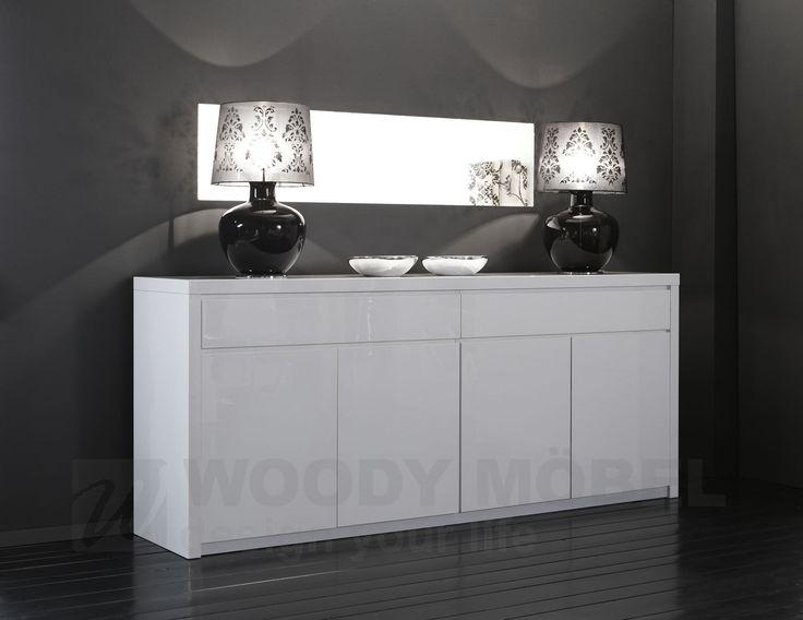 53 besten wei e hochglanz sideboards bilder auf pinterest. Black Bedroom Furniture Sets. Home Design Ideas