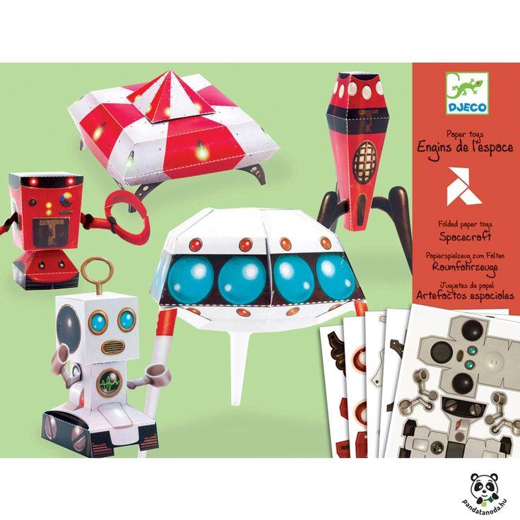 Űrhajók kreatív papírhajtogatós készlet (Djeco) | Pandatanoda.hu Játék webáruház