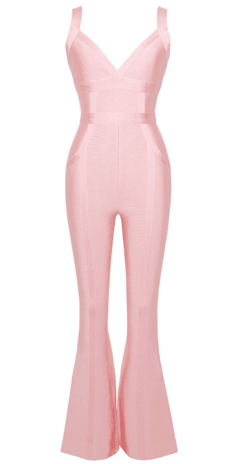 0086f674bb6a Bandage Jumpsuit Pink in 2019