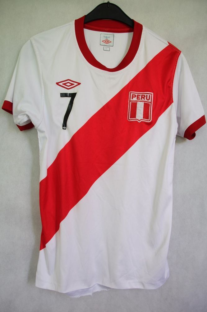 PERU National Football Team 2010/2011 UMBRO Shirt Jersey sz S Small #Nike #Peru