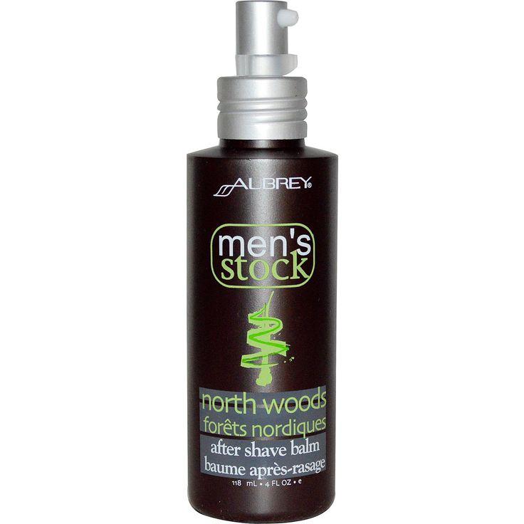 Aubrey Organics, Men's Stock, After Shave Balm, North Woods, 4 fl oz (118 ml)
