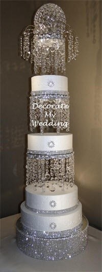 Blinged Out Wedding Cake Stands