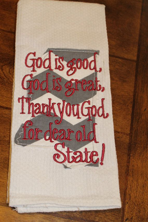 Mississippi State MSU Thank you God for dear old by annabeesdesign