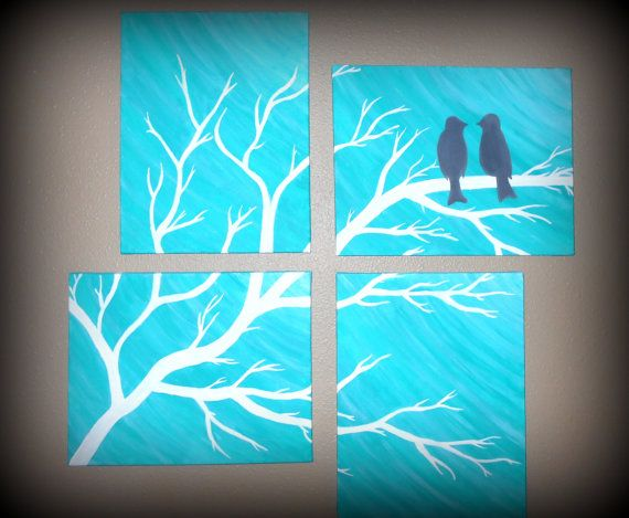 4 11x14 bird multiple canvases made to order can be made for Multi canvas art ideas