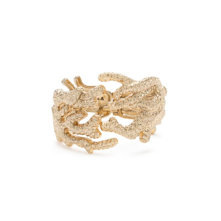 JEWELLERY Rigid metallic coral bracelet ANTIQUE GOLD