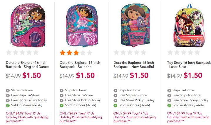 Toys R Us *HOT* Backpack Deals!