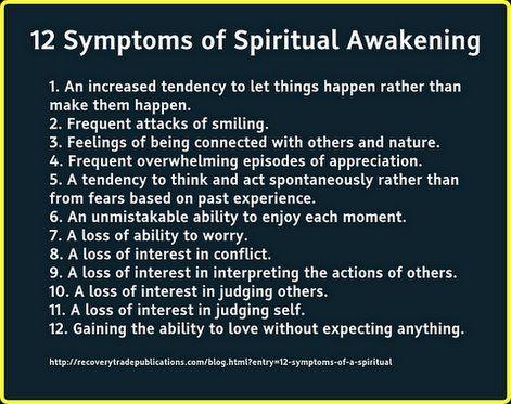 12 Symptoms of Spiritual Awakening   blossoming consciousness