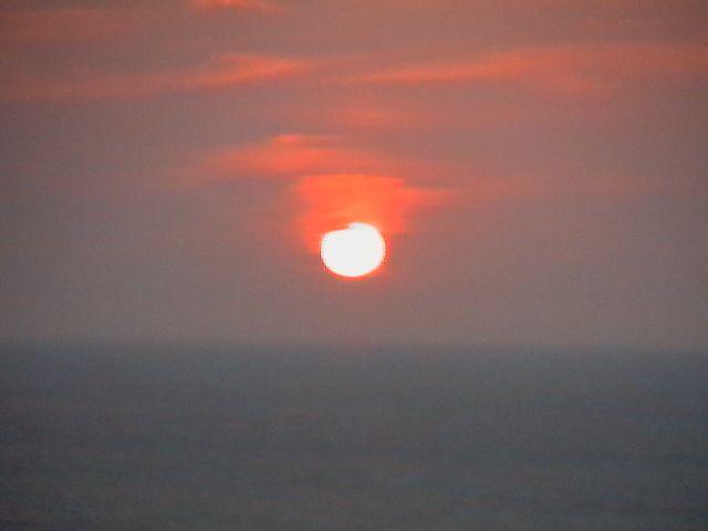 Sunset in Santa Marta, Colombia.