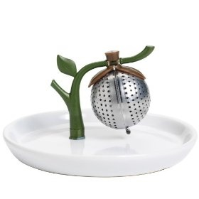 Branch Tea Infuser and Saucer. Cute!Kitchens, Teas Infused, Teas Time, Chefs N Teas, Saucer, Arta Teas, Trees Teas, Teas Trees, Tea Infuser