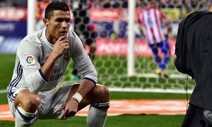 Cristiano Ronaldo takes one last look at the Calderón as Zidane's legacy begins The Real Madrid forward scored a hat-trick in the last derby against Atlético at the Vicente Calderón, with the numbers starting to add up for his manager