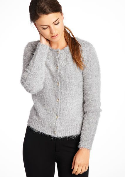 Plain long-sleeved round neck cardigan #knitwear #lolaliza #fashion #lolalizafashion