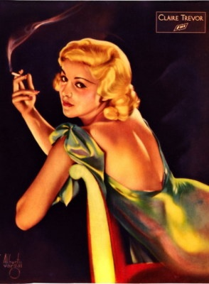 great image of actress CLAIRE TREVOR  -- possibly done by ALBERTO  VARGAS