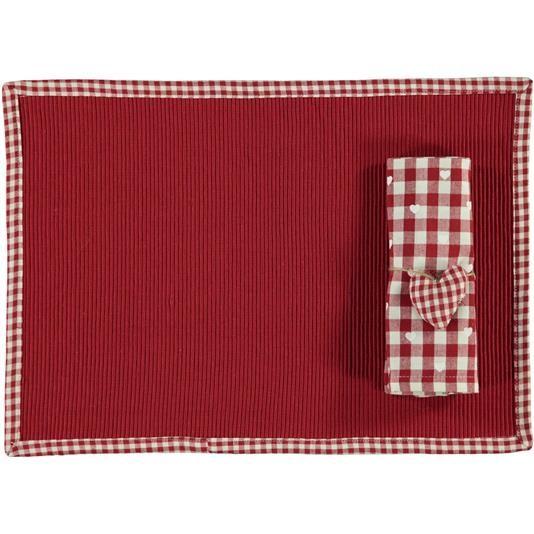 Tovaglietta con tovagliolo quadri casa - € 9,90   Nico.it - #table #tablecloth #tovaglietta #setamericano #kitchen #cucina #cute #homesweethome #love #christmas #tbt #picoftheday