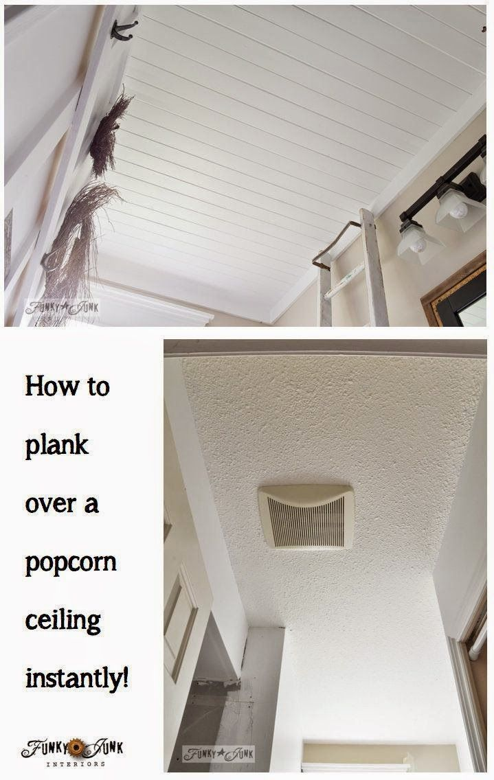 How to plank a popcorn ceiling instantly