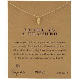 Dogeared Light as a Feather Necklace