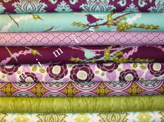 AVIARY 2 Collection / Joel Dewberry Fabric / 8 Half Yard Pack   Cotton Quilt Fabric