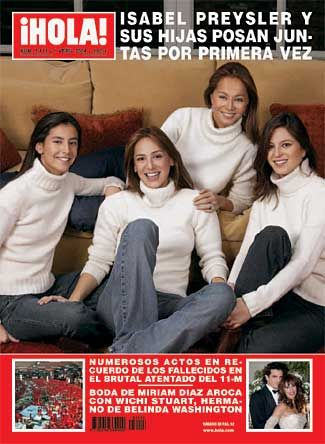 Isabel Preysler + Daughters//She is also the mother of Enrique Iglesias