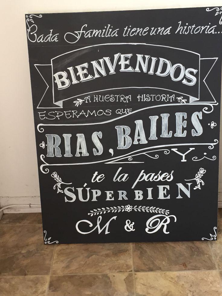 Nuestro mensaje de bienvenida para nuestros invitados de boda.