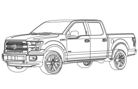 Ford F150 Pickup Truck coloring page from Ford category