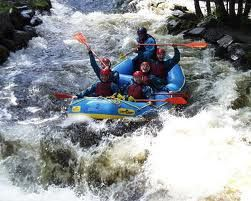 White water rafting - Canolfan Tryweryn (National White Water Centre), Bala, Wales