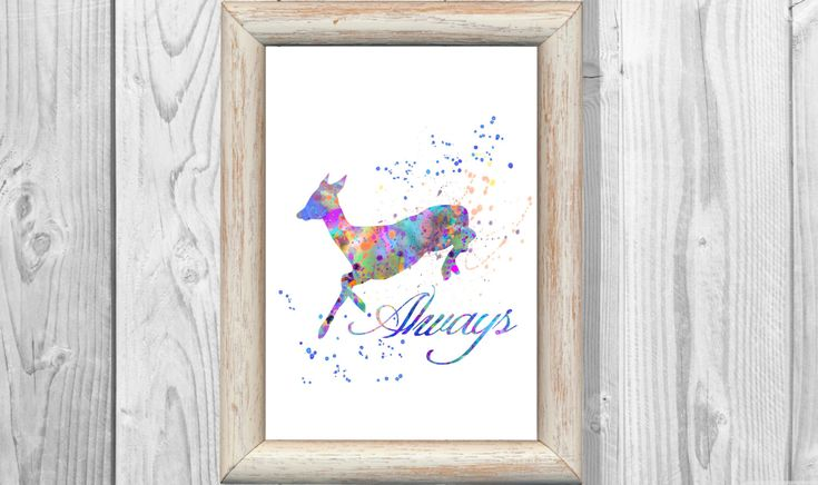 Snape's Patronus Severus Snape Poster Harry Potter Poster Watercolor Print  Instant Digital Download by MarinaIdea on Etsy https://www.etsy.com/listing/269132468/snapes-patronus-severus-snape-poster