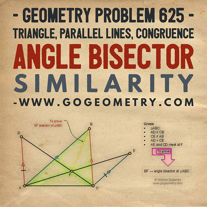 Typography of Geometry Problem 625 Triangle, Parallel