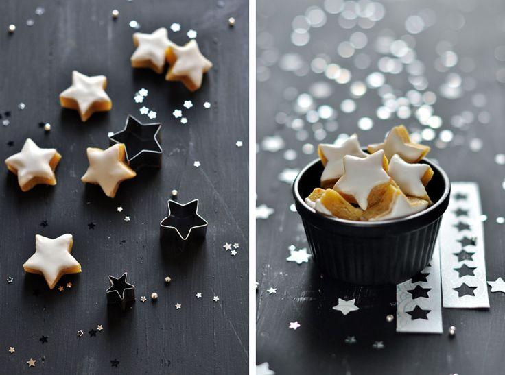 Calissons étoiles à l'orange et au gingembre