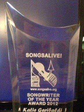 What's The Buzz? Katie Garibaldi is Award Recipient of 2012 Songsalive! Songwriter of the Year! - HorizonVU Music Blog and SHOP