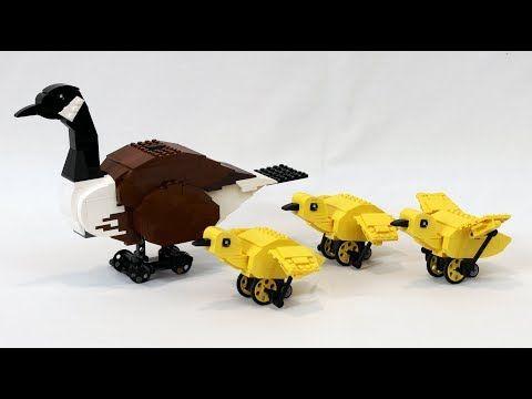 Motorized LEGO Canada Goose and Goslings - YouTube