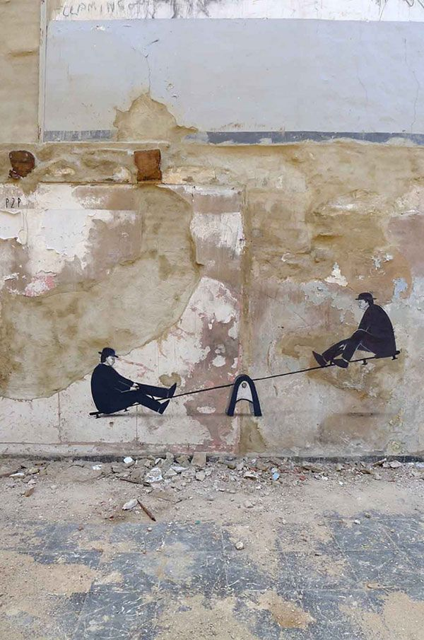 """Peer to Peer"" by Escif: Escif Valencia, Ports, Urban Art, Street Art, Out Of, Amazing Street, Streetart"