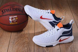 25bc2f62fe9 Mens Nike Lebron Witness II EP 2 Flyknit White Navy Blue Red Basketball  Shoes