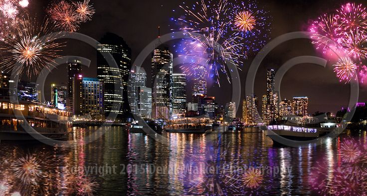 The annual  Brisbane City Riverfire and River Festival, in Queensland, Australia.  For image licensing enquiries, please feel welcome to contact me at derekwalker73@bigpond.com  Cheers :)