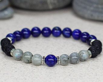 Black onyx bracelet Buddha bracelet Meditation bracelet Yoga