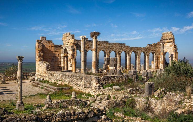 Volubilis - Située en banlieue de la ville impériale de Meknès, ce site archéologique est une ville antique berbère romanisée datant du IIIe siècle av. J.C. La ville se visite à pied sans problème et peut être explorée de fond en comble. En plus d'être situé dans un décor enchanteur peuplé d'oliveraies, le site est plutôt bien conservé et permet de retracer son histoire.