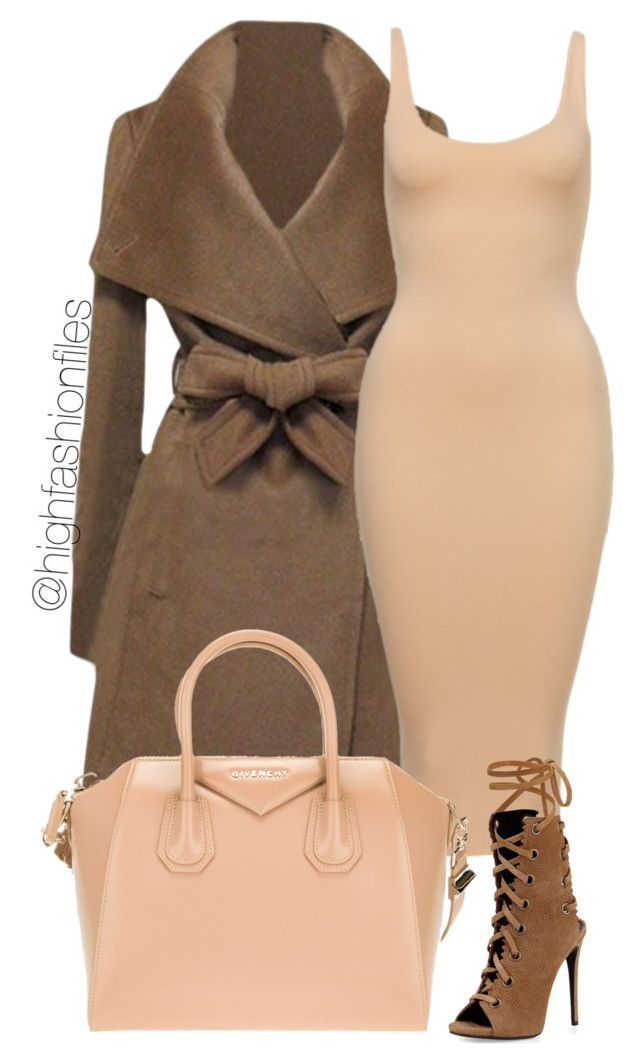 """Brown x Nude"" by highfashionfiles ❤ liked on Polyvore"