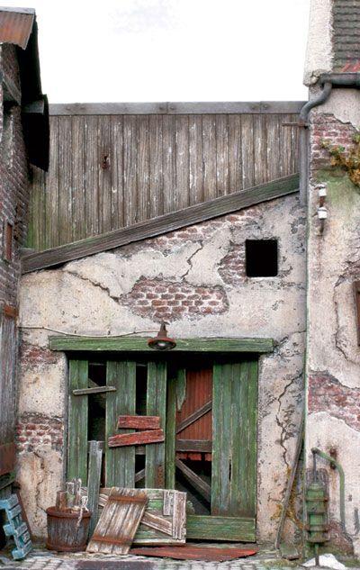Miniature Building Construction in Foamboard by Emmanuel Nouaillier