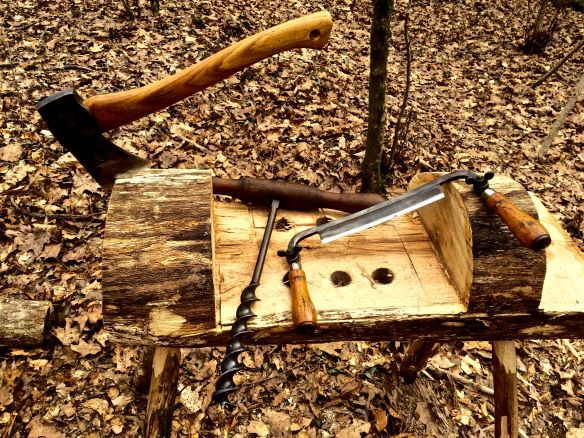 How To Build A Carving Bench From A Log Rope Vise Plans