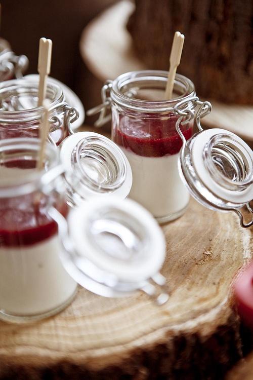 pomegranate hibiscus tea jelly honey ginger yoghurt tea jelly verrines ...