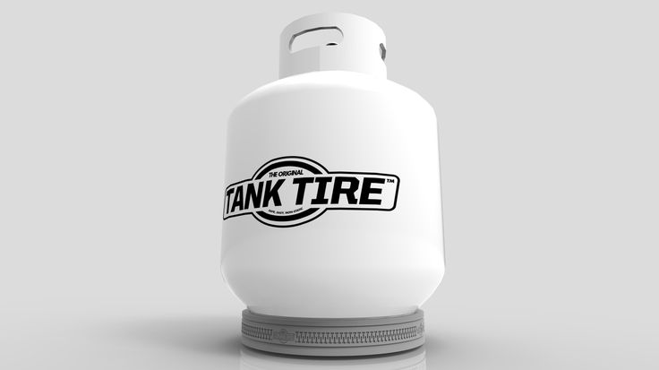 Tank Tire™ fits around the base of your 10, 11, 20, 30 & 40 lb. propane tank to prevent rust rings & surface damage.