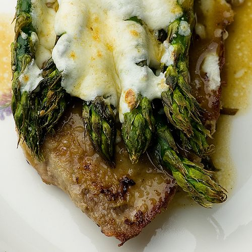 A quick and easy veal recipe featuring fresh asparagus and veal cutlets with an easy marsala wine sauce.