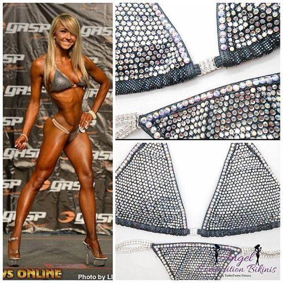 Black Crystal Elite Sparkle Competition Bikini by NpcAngelBikinis, $385.00 www.acbikinis.com