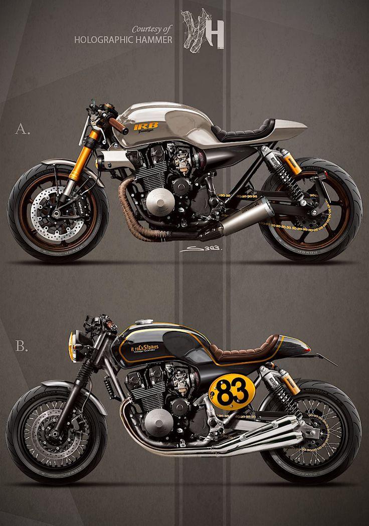 pinterest.com/fra411 - 1992 Honda CB 750 / It rocks bikes - by Holographic Hammer
