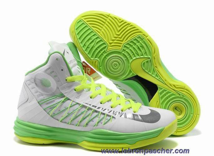 New Nike 2013 Womens Lunar Hyperdunk Summit White Wolf Grey Electric Green  Basketball Shoes Shoes Shop